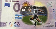 0-Euro-Souvenir-Scheine 2020-1 Diego 1960-2020 AGAA color