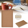 Design Dotted Grid Kraft Cover Spiral Notebook Management Journal 100 Pages A5