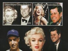 MARILYN MONROE JFK JOE DIMAGGIO CENTRAFRICAINE 2017 MNH STAMP SHEETLET