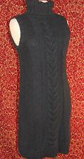 NWT GAP charcoal gray tweed sleeveless straight pencil sweater dress M (T4501D7G