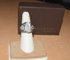 Cubic Zirconia Ring, Sz 5.75 Silpada .925 Sterling Silver Oxidized Marquise