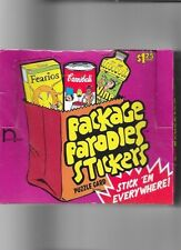2000 PACKAGE PARODIES STICKERS SERIES ONE FULL SEALED BOX NEW HAMM PRODUCTIONS