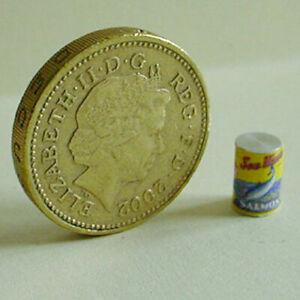 "1:24 Dollhouse Miniature ~ British Salmon Tin    3/8""           #464"