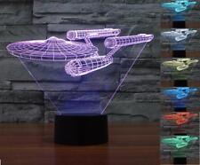 Novelty Lamp 3D Star Trek Bulbing Night Light Color Changing LED Lighting Star