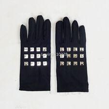 Japanese Anime Dangan Ronpa Kirigiri Kyoko Black Elastic Rivet Glove Cosplay