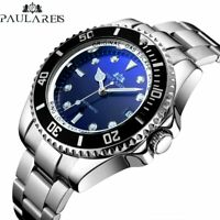 PAULAREIS Deep Sea Automatic Mechanical Men Watch Full Steel Homage Rotate Bezel