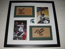 Denzel Valentine Branden Dawson Signed Floorboards Michigan State Basketball COA
