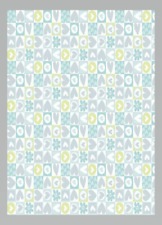 FREE SPIRIT SWEETHEART FABRIC heart check Aqua Blue material #118 100% cotton