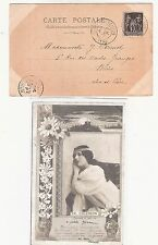 22) 1900 World Exhibition during Olympic Games card cancel Paris Expo IENA