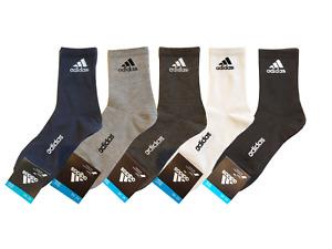 Adidas Men's High Quarter Socks 3 PAIRS - 5 PAIRS mens crew socks