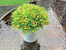Orange Fake Artificial False Flower Leaf Plants Indoor Outdoor Foliage Garden UK