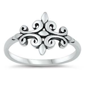CELTIC DESIGN ~ Ladies Genuine 925 STERLING SILVER RING ~ Size 6 7 8 9 10