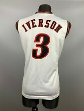PHILADELPHIA 76ERS NBA ALLEN IVERSON BASKETBALL JERSEY SWINGMAN CHAMPION SIZE S