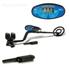 Bounty Hunter Quick Silver METAL DETECTOR, LCD Metal DETECTOR + PINPOINTERb -NEW