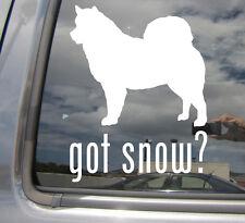 Got Snow? Alaskan Malamute Dog Humor - Vinyl Die-Cut Decal Window Sticker 01015