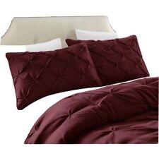 Chezmoi Collection Sydney 7-Piece Burgundy Pinch Pleat Pintuck Comforter Set