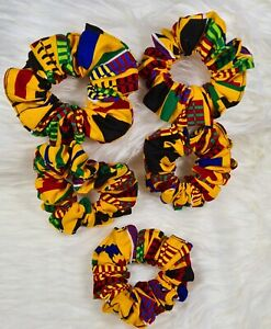 Scrunchie Soft Stretchy Hair Accessories Hair Tie Kente print| Ponytail Hair