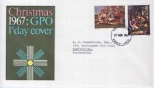 First Day of Issue Seasonal, Christmas Pre-Decimal Great Britain Stamps