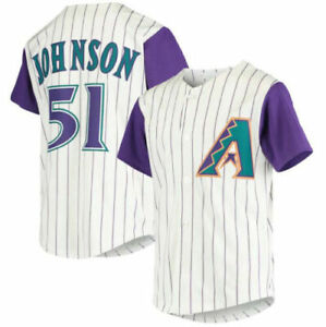 Randy Johnson #51 Arizona Diamondbacks Stripe AOP Baseball Jersey S-4XL