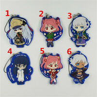 Anime Re:CREATORS rubber Keychain Key Ring Race Straps Cosplay
