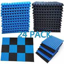 24 Pack Acoustic Foam Panel Wedge Studio Soundproofing Wall Tiles 1