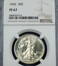 1942 Walking Liberty Half Dollar   NGC PF67
