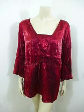 Avenue NWT Red 3/4 Sleeve Woman Top Blouse Plus Size 22/24
