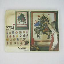 Vintage Advent Calendar Tree Pattern Banner Christmas Ornaments Vogue 2794
