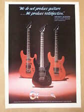 vintage magazine advert 1986 CHARVEL GUITARS