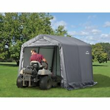 NEW 10'Lx10'Wx8'H Storage Shed Portable Garage Canopy Gray 70333 Easy Set Up