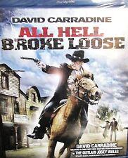 All Hell Broke Loose NEW! Blu-ray Disc,David Carradine,Westerns,Sharpshooter