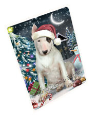 Holly Jolly Christmas Bull Terrier Dog Tempered Cutting Board Large Db459