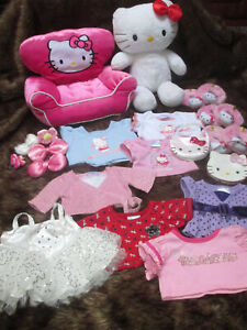 HUGE Lot Build-a- Bear BABW Hello Kitty Plush Chair Clothing Shoes Accessories