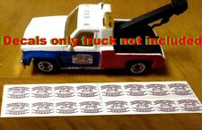 2 Cooters tow truck 1:24 1:25 scale water slide decals Dukes of Hazzard 1//24