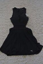 Puma Balance L Black Waist Cutout Mesh Skort Dress Fit Flare Skater NWT$110 SEXY