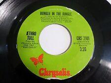 Jethro Tull Bungle In The Jungle / Back Door Angels 45 1974 Vinyl Record