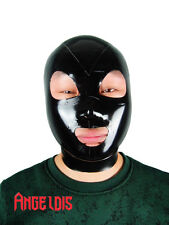 100% Handmade Latex Rubber Hood Mask AngelDis open eye mouth nose gummi #02003