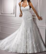 Halter Sweetheart Charming Mermaid Wedding Dress Bridal Gown Custom Hot 2017 New