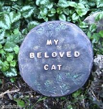 My beloved cat mold plaster cement garden casting animal mould