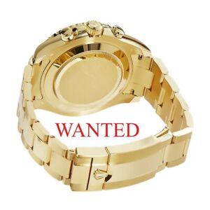ROLEX YACHTMASTER II 18K YELLOW GOLD SUBMARINER GMT