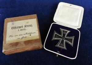 Orden,U-Boot,Eisernes Kreuz I.Klasse,EK 1 1914,Hersteller,Mit Etui & Überkarton