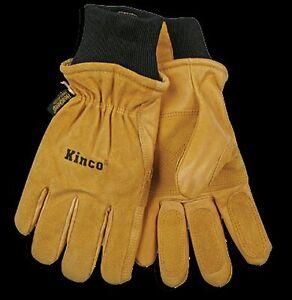 Kinco 901 Mens Leather Ski Gloves Heatkeep Winter Work Warm Thermal Pigskin NEW