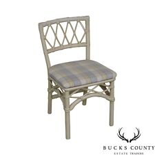 Ficks Reed Vintage White Painted Side Chair