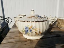 AMERICAN LIMOGES WHEATFIELD COVERED VEGETABLE DISH EXCELLENT CONDITION