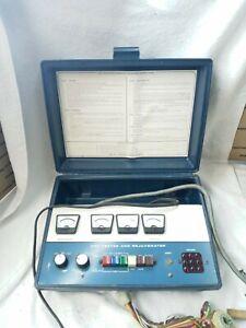 Vintage Heathkit CRT TV Tube Tester and Rejuvenator Model IT-5230 with Adapters