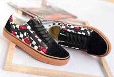 Vans Old Skool Cherry Checker Black/Gum Men's Classic Skate Shoes Size 10