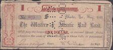 Western & Atlantic Railroad One Dollar Note