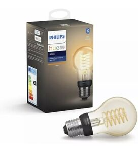 Philips Hue Filament Smart Light Bulb White Ambiance 7W Classic Filament A60 E27
