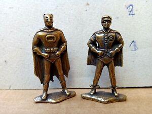 "rare vintage 60's BATMAN & ROBIN Die Cast Metallic Figure 2""in From ARGENTINA"
