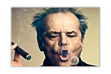 Landscape Jack Nicholson Smoking Poster Wall Prints Movie Stars Home Decoration